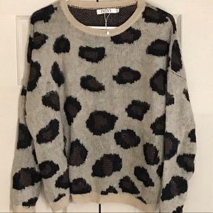 IVIVI tu Chunky Leopard Sweater